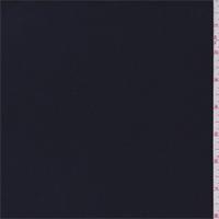 *1 3/4 YD PC--Ink Black Wool Crepe Double Weave