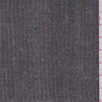 *2 1/4 YD PC--Black/Taupe Herringbone Suiting