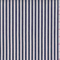 Ivory/Regal Blue Stripe Stretch Denim