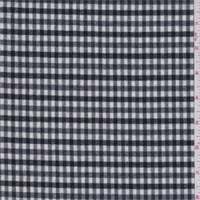 *1 1/2 YD PC--Black/White Check Wool Suiting