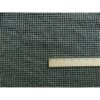 *3 3/8 YD PC--Black/White Wool Plaid Flannel Jacketing