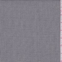 *2 1/2 YD PC--Black/White Gingham Check Lightweight Suiting