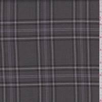 *3 YD PC--Gunmetal Grey Plaid Wool Flannel Suiting