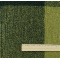 *1 1/8 YD PC--Green Wool Checker Gauze