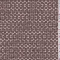*3 1/4 YD PC--Tan/Cocoa Lattice Jacquard Suiting