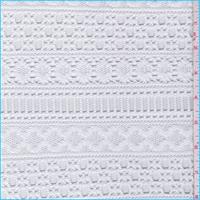 *1 7/8 YD PC--Bright White Decorative Stripe Crochet Lace