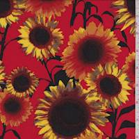 Fire Red Sunflower Challis