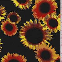 Black Sunflower Challis