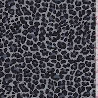 Jade Grey Mini Cheetah Print Challis