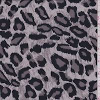 Taupe Grey Leopard Print Challis