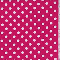 Bright Red Polka Dot Challis