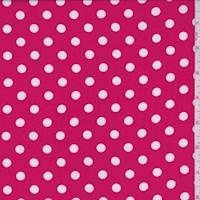 Bright Red Polka Dot Challis