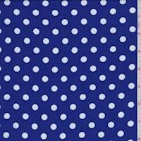 Jewel Blue Polka Dot Challis