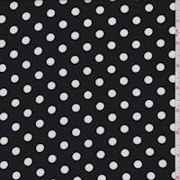 Black Polka Dot Challis