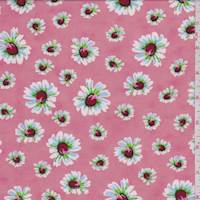 Creamy Pink Tossed Daisy Challis