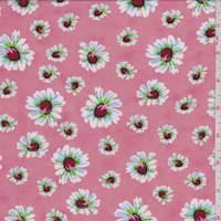 Creamy Pink Tossed Daisy Challis