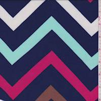 Deep Blue Chevron Challis