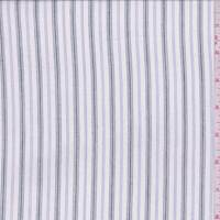 White/Black/Ink Stripe Shirting