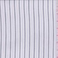 White/Black/Ink Stripe Shirting