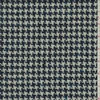 *3 3/8 YD PC--Blue Wool Houndstooth Tweed Jacketing