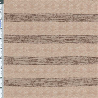*2 YD PC--Mocha/Beige Stripe Jacquard Knit