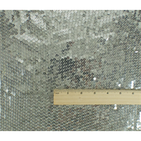 *3 5/8 YD PC--Silver Sequin Mesh