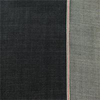 *7/8 YD PC--Dark Blue Cotton Slub Selvedge Denim