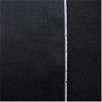 *2 5/8 YD PC--Black Navy Blue Cotton Japanese Selvedge Bull Denim