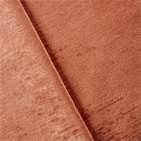 *1 1/2 YD PC--Dusty Apricot Orange Chenille Strie Velvet Decorating Fabric