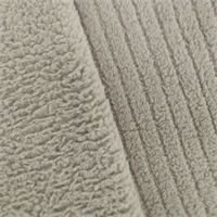 *1 YD PC--Cloud Grey Ribbed Sherpa Fleece