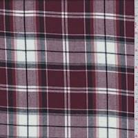 Rosewood Red Plaid Shirting