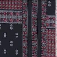 Black Floral Patchwork Scuba Knit