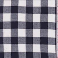 Navy/White Check Shirting