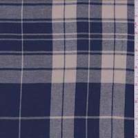 Coventry Blue/Beige Plaid Shirting