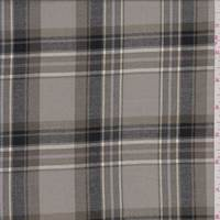 Frosted Olive Plaid Shirting