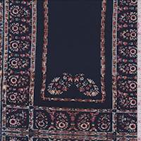 Stormy Blue Floral Tile Jersey Knit