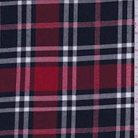 Red/Black/White Plaid Flannel