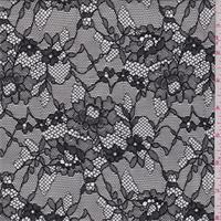 *3 YD PC--Black Floral Lace