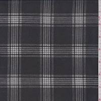 Black Plaid Chiffon