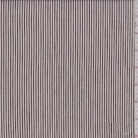 *1 7/8 YD PC--White/Brown Stripe Denim