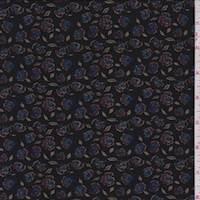 Soft Black Mini Rose Jersey Knit