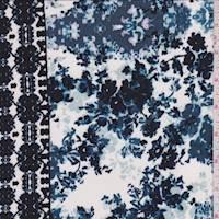 Ivory Floral/Medallion Jersey Knit