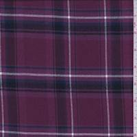 Mulberry Plaid Flannel