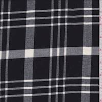 Black/White Plaid Flannel