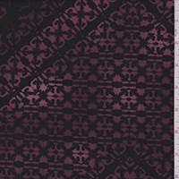 Black/Maroon Morrocan Diamond Jersey Knit