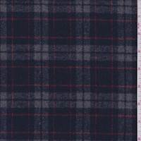 Navy/Pewter Plaid Flannel Jacketing