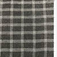 Charcoal Grey Check Rayon Flannel