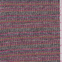*2 5/8 YD PC--Pink/Black/Orange Sweater Knit