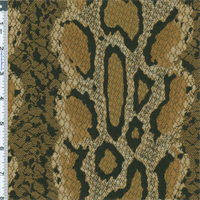*2 YD PC--Brown Amazon Anaconda Snake Jacquard Home Decorating Fabric