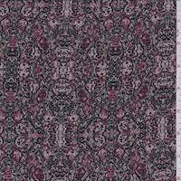 Mauve/Rose Medallion Jersey Knit